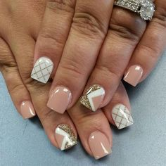 Nail forma is coma!  Color very nice!  Nude and white...