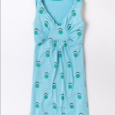 Boden Disc/ Dot Tunic dress NEW never worn. Boden summer tunic dress. This item did not come with tags (none of Boden mail order does) but has not been worn. It is a size twelve but in my opinion it fits like ten. I do not trade. Boden Dresses