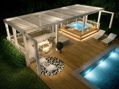 Pool and outdoor lounge Pool and outdoor lounge, ., Outdoor pool and lounge Outdoor pool and lounge, room Although early with principle, the pergola has become going through a contemporary renaissance. Jacuzzi Outdoor, Outdoor Spa, Outdoor Balcony, Outdoor Pergola, Backyard Pergola, Pergola Plans, Outdoor Lounge, Outdoor Living, Rooftop Garden