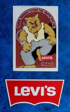 LEVIS Original Vintage 1980 s Jeans advertising stickers Levi Strauss & Co, Vintage Tags, Vintage Levis, Fashion Branding, Clothing Company, Bibs, Skateboarding, Levis Jeans, American Apparel