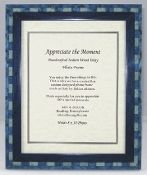 Italian Wood Inlay Picture Frame - Blue, 8x10
