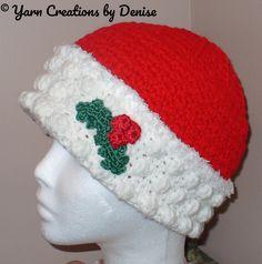 Mrs Santa Claus or the Martha Crochet Hat | Craftsy
