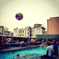 Playtime is all the time at the rooftop pool. #thompsonLES #roomcritic