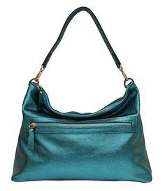 New Town Bag - Metallic Turquoise