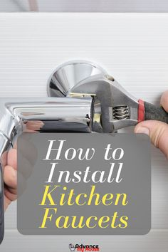 In this guide, we will be providing you with a step-by-step guide to installing kitchen faucets. In this way, you won't have to ask for a professional's help to do it, saving you some money in the process. Kitchen Faucet With Sprayer, Best Kitchen Faucets, Luxury Kitchen Design, Home Interior Design, Basin Wrench, Nuts And Washers, Water Valves, Installation Manual, Professional Kitchen