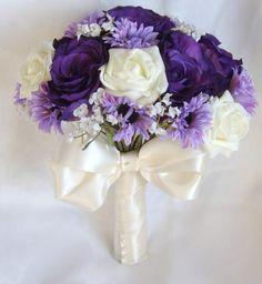purple boquet | Zarah - Purple, lilac and ivory Wedding bouquet