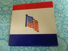Vintage Box of Gummed 48 Star US Flag Seals  NIB by papertales, $5.35
