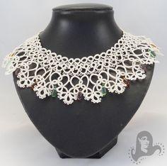 Bridal tatting necklace, wedding lace collar necklace - Victorian Dream - tatted bridal collar necklace. $70.00, via Etsy.