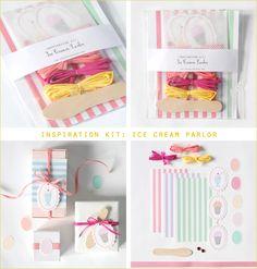 Kit de empaquetado inspirado en el verano y los helados