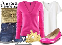 The Sleeping Beauty Disney Outfit # but change the shoes to pink tennies for comfort
