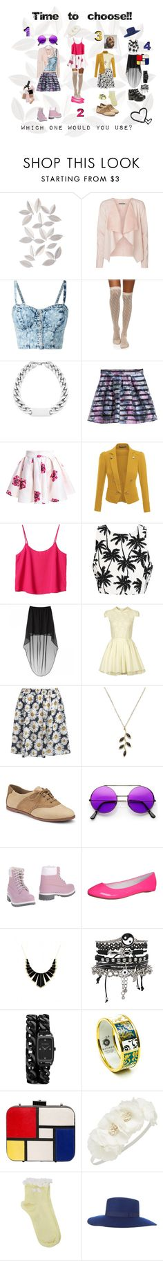 """""""Time to choose!"""" by mssantos ❤ liked on Polyvore featuring Umbra, Vero Moda, H&M, Doublju, Monki, Lipsy, Pieces, Sperry, even&odd and House of Harlow 1960"""
