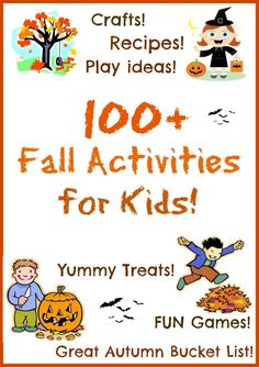 An amazing list of fun activities for kids! Autumn ideas