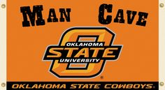 NCAA Oklahoma State Cowboys Man Cave Flag with Grommets