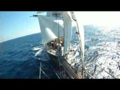 View from bowsprit - Clipper Stad Amsterdam (HD) #clipperstadamsterdam #Mediterranean #sailtraining #bowsprit #video #view #travel #adventures