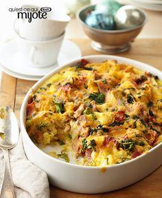 Casserole aux œufs apprêtée à l'avance #recette