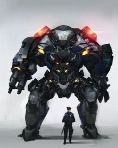Okay, wir lassen den Roboter in Ruhe und kümmern uns lieber um den Polizisten, wenn wir die Bank ausrauben wollen :-)