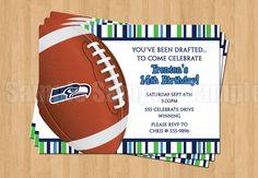 Seattle Seahawks Football Birthday Bachelor by my3sweetcheeks, $10.00