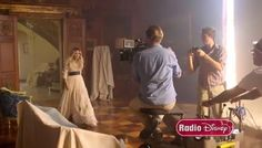 """Video: More Of Jake Whetter Of Radio Disney With Demi Lovato On The Set Of """"Let It Go"""" Music Video Shoot"""