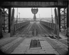 Development of the Carfloat Transfer Bridge in New York Harbor New York Harbor, Warehouses, Railroad Tracks, Trains, Bridge, Model, Scale Model, Bro