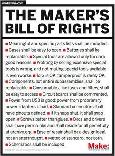 The Maker's Bill of Rights (PDF) | Make: