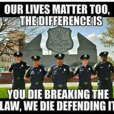 Our lives matter too