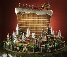 In December, Flora Aghababyan, chief cake designer for Wynn Las Vegas and Encore, created a three-foot gingerbread replica of the Wynn surro... Photo: Eric Jamison/Studio J. Inc
