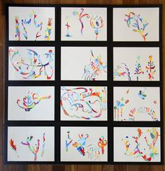 Easy, fun, creative art project for kids or adults. Try it small scale, as the example, or large scale, flashy and framed.  Try it!