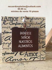 Bolos y recuerdos para Bautizo y Primera Comunion: Bendiciones de la casa y Bendicion de la Mesa