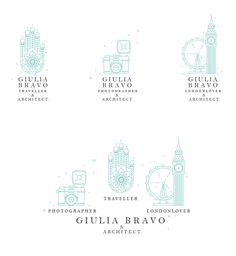 Giulia Bravo [ ] & Architect by Federica Bonfanti, via Behance