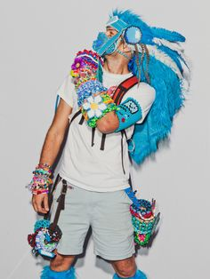 93ea2dbdf56f97 Raver boy costume at EDC LV 2013 Guy Rave Outfits