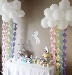 Includes one 3 foot floating balloon kit and 6 piece pastel rainbow crepe fringe set. Makes great backdrop for pictures or party table. Easy 25 minute assembly time. Balloon kit includes: 10 eleven inch deflated white balloons 5 eight inch deflated white balloons 2 foot balloon decorating strip 6 balloon glue dots 6 feet of fishing twine for hanging And picture instructions Streamers include 3.5 inch wide and 7.5 feet long 60 gram fringed crepes. 6 colors : Light Pink, Pink, Primrose Yell