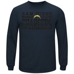 San Diego Chargers Majestic Victory Pride Long Sleeve T-Shirt – Navy Blue