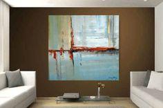 Arte pintura 48 x 48 gran pintura abstracta por jolinaanthony