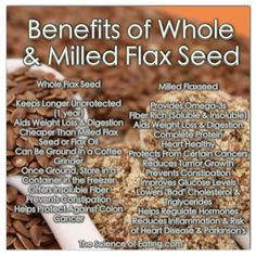 Flax seed oil and flax seeds. They're a favored with vegans and vegetarians that find this vegetable supply of fatty acids to be just amazing. Fitness Nutrition, Health And Nutrition, Health Tips, Flaxseed Smoothie, Flaxseed Gel, Whole Grain Cereals, Flax Seed Recipes, Healthy Seeds, Eating Clean