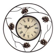 Pinecone Wall Clock  #Clock #Pinecone #ProductFeatures #RusticWallClock #Wall The Rustic Clock