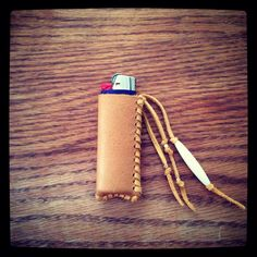 Fringe Leather Lighter Holder www.etsy.com/shop/thewasteland