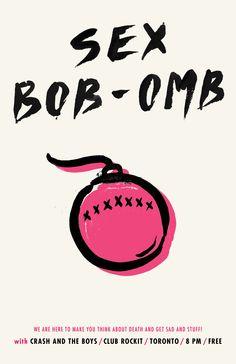 Sex Bob-Omb Show Poster11 x 17 by Naomi Nakazato