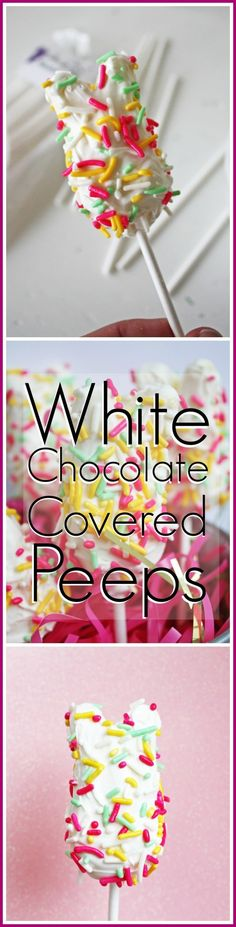 White Chocolate Peeps DIY