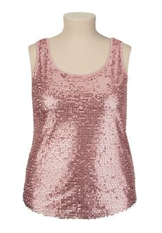 Allover Sequin Tank - maurices.com