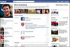 How many of you remember this old layout of Facebook?