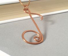 Note copper pendant handmade wire wrapped unisex jewelry