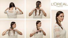 TRESSE FISHTAIL - Tuto Coiffure mariage  #Elnett #Styling #DIY