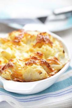 Gluten Free Cauliflower Au Gratin -  I don't have dairy often but when I do, this is a fave!