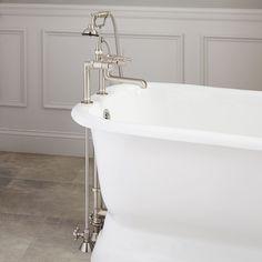 Contemporary Deck Faucet Set - Lever Handles - for Copper Pipe -