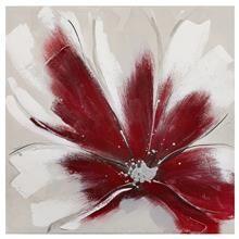 Tableau - Fleur rouge métallique