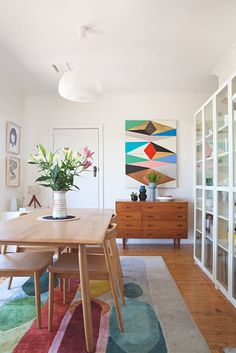 Name: Kristina Sostarko and Jason Odd, Kibi the dog, and Denni the rabbit Location: Victoria, Australia Size: 72.51 square meters (780 square feet) Years lived in: 5 years; Owned I have been a longtime fan of the colorful, graphic prints and artwork created by Kristina Sostarko and Jason Odd, the duo behind inaluxe. The couple originally met at art school in the '90s and then both worked in the music industry in Melbourne. In 2010, they made a move to the county town of Stawell near the G...