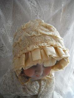 Français Antique Vintage bébé Bonnet par FrenchCountryLiving