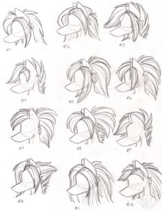 Female Anthro Wolf Hairstyles by StangWolf