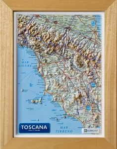 Serie:  Carte in rilievo formato A4 Scala:  1:1.100.000 Formato:  21 x 29,7 cm