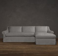 Couch design ideas - Belgian Roll Arm Slipcovered Right-Arm Sofa Chaise Sectional | Sectionals | Restoration Hardware